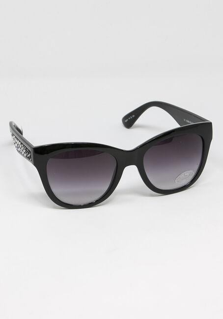 Women's Crytal Arm Wayfarer Sunglasses