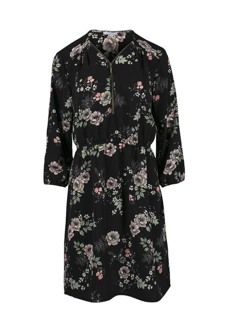 Women's Floral Cold Shoulder Shirt Dress