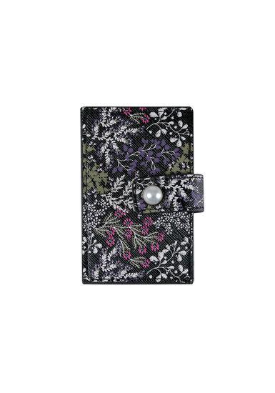 Women's Floral Card Holder, PURPLE, hi-res