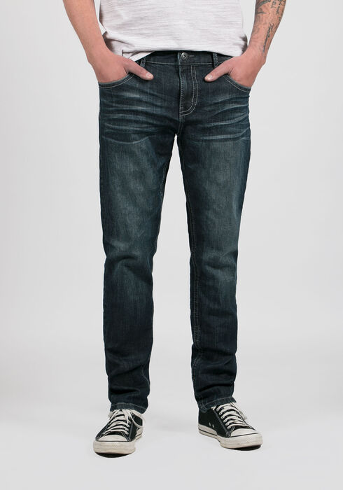 Men's Tapered Fit Jeans, MEDIUM WASH, hi-res