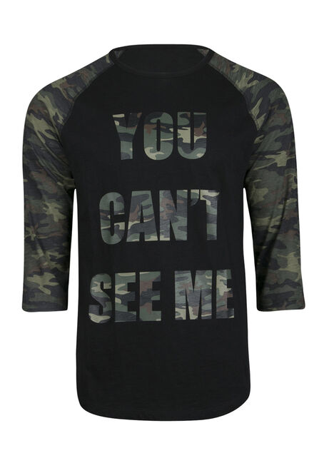 Men's Can't See Me Baseball Tee