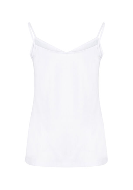 Women's Reversible Relaxed Strappy Tank, WHITE, hi-res