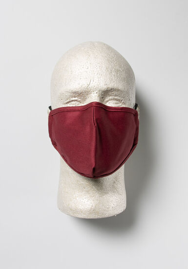 Mask With Carrying Case, BURGUNDY, hi-res