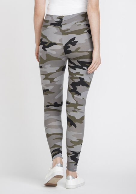 Women's Camo Legging, OLIVE, hi-res