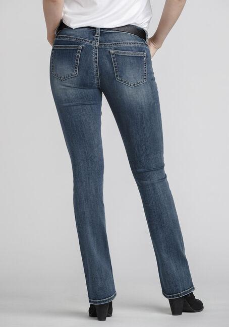 Women's Mid Wash Bootcut Jeans, MEDIUM WASH, hi-res