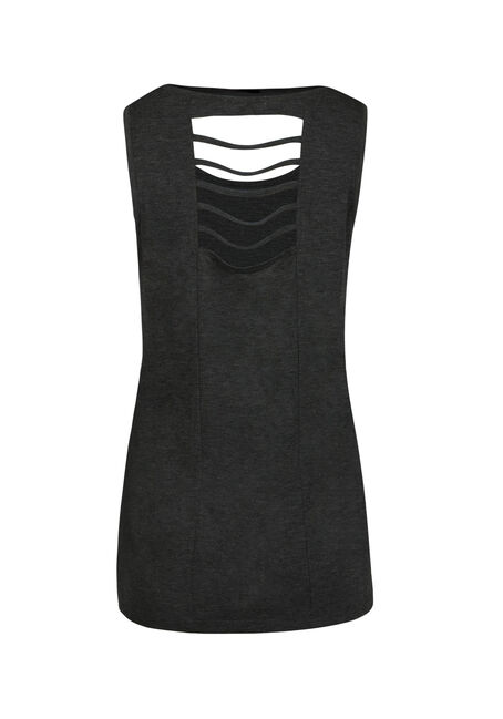 Ladies' Pina Colada Tank, CHARCOAL, hi-res