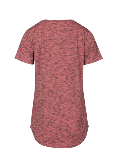 Women's Drapey V-Neck Space Dye Tee, TERRACOTTA, hi-res