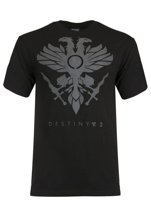 Men's Destiny Reflective Print Tee, BLACK, hi-res
