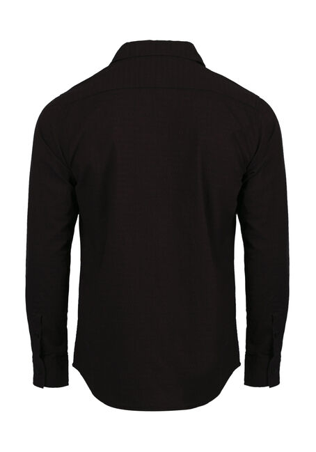 Men's Comfort Stretch Textured Shirt, FIG, hi-res