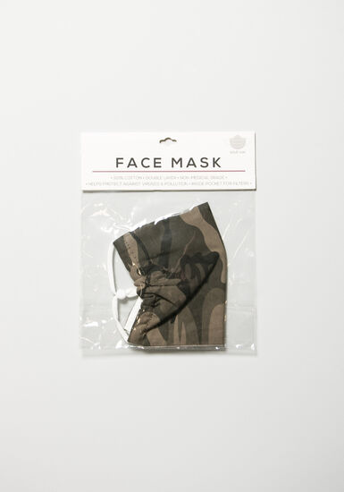 Camo Face Mask, OLIVE, hi-res