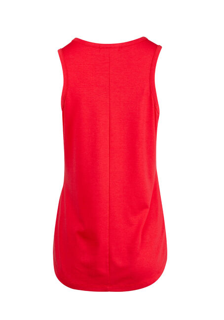 Ladies' Cage Neck Tank, TOMATO, hi-res