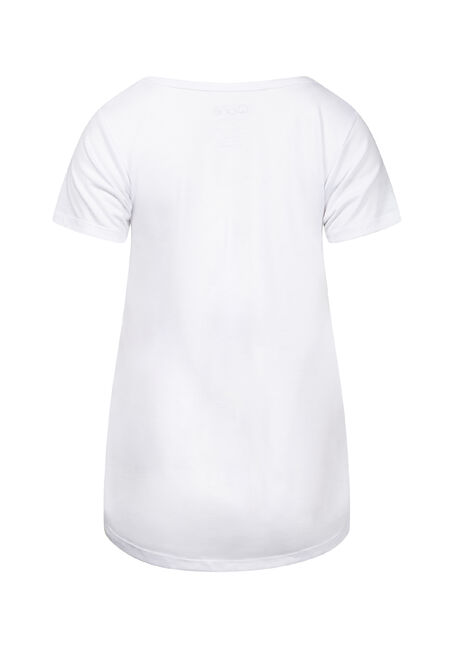 Women's Drapey Scoop Neck Tee, WHITE, hi-res