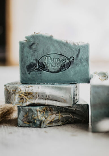 Peppermint Rosemary Soap Bar, TEAL, hi-res
