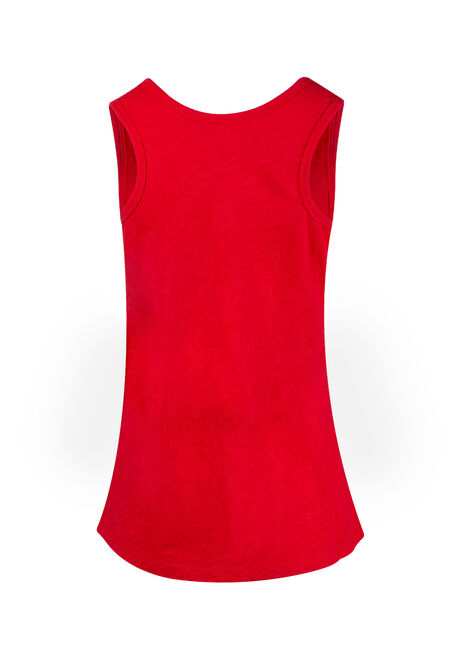 Women's Scoop Neck Slub Tank, RED SEA, hi-res