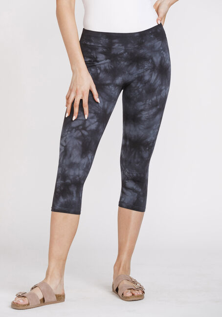 Women's Tie Dye Wide Waistband Capri Legging
