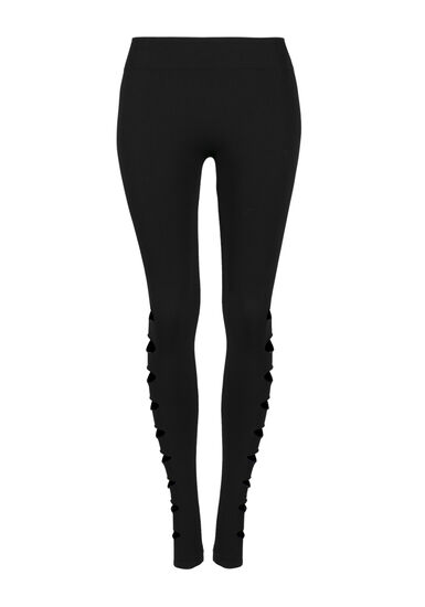 Women's Shredded Legging, BLACK, hi-res