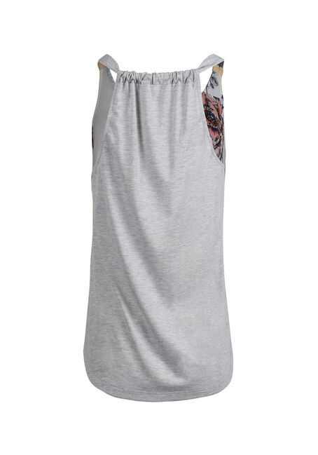 Women's Floral Tank, IVORY, hi-res