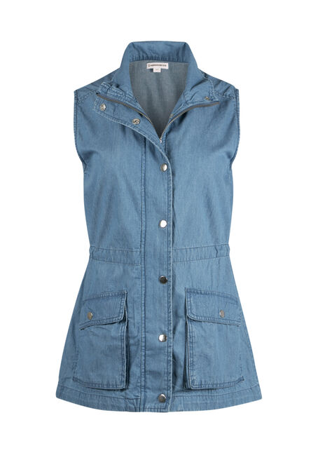Ladies' Denim Utility Vest