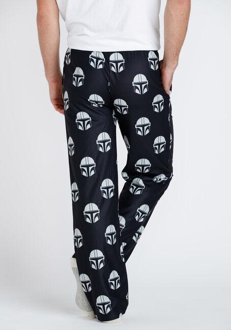 Men's Mandalorian Sleep Pant, BLACK, hi-res
