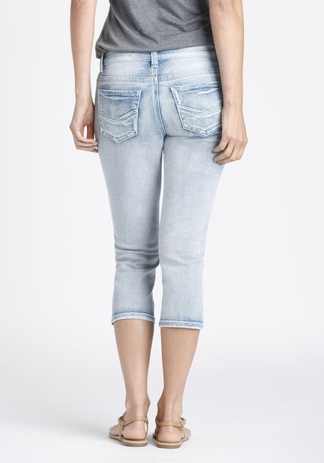 Ladies' Slim Capri, LIGHT VINTAGE WASH, hi-res