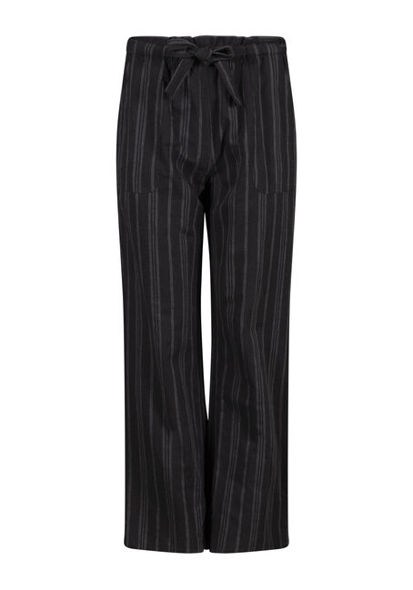 Women's Wide Leg Striped Linen Pant