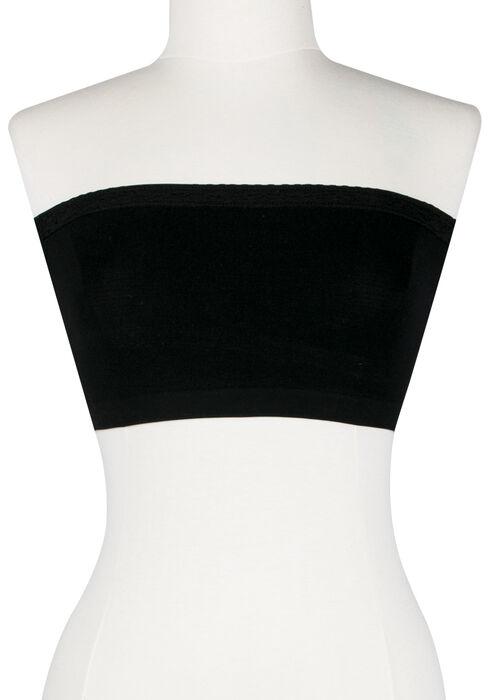Women's Lace Trim Bandeau, BLACK, hi-res