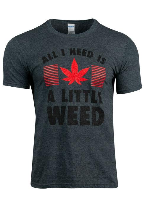 Men's Cannabis Tee, DARK HEATHER, hi-res
