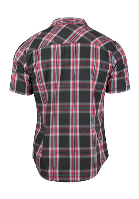 Men's Plaid Shirt, RED, hi-res