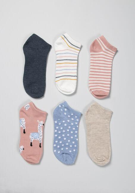 Women's 6 Pack Ankle Socks