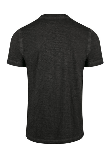 Men's Vintage Henley Tee, CHARCOAL, hi-res