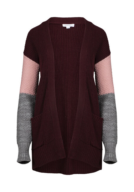 Women's Chunky Knit Colour Block Cardigan