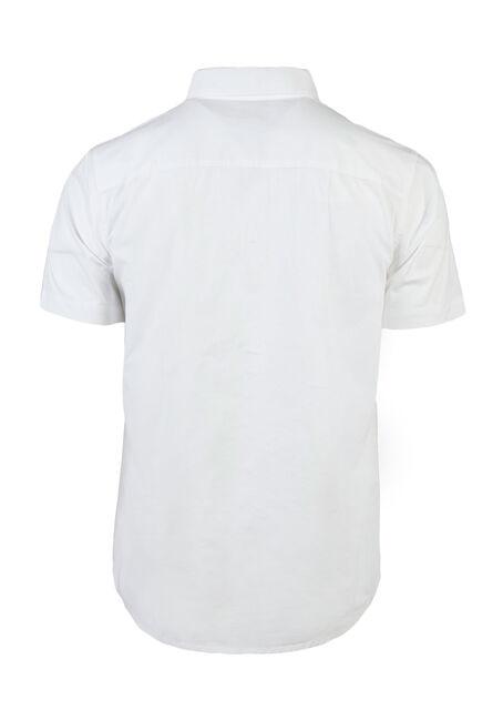 Men's Poplin Shirt, White, hi-res