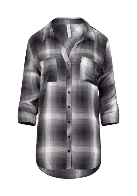 Women's Boyfriend Plaid Shirt
