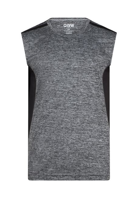 Men's Athletic Tank, BLACK, hi-res