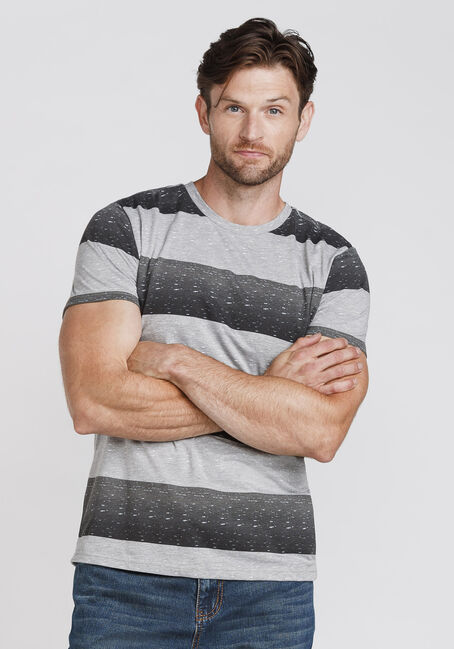 Men's Everyday Striped Tee, CHARCOAL, hi-res