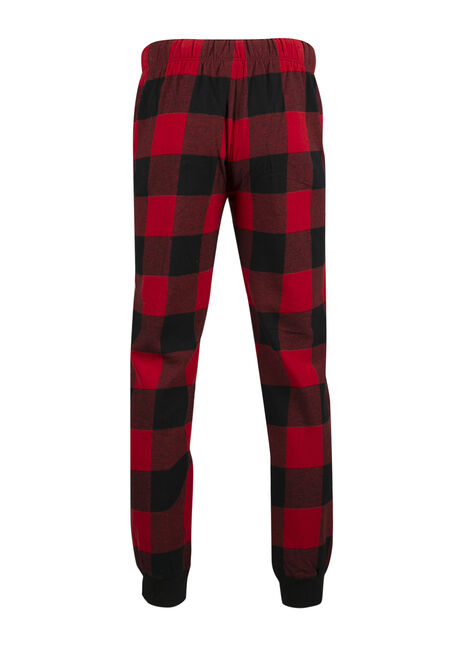 Men's Buffalo Plaid Jogger, RED, hi-res