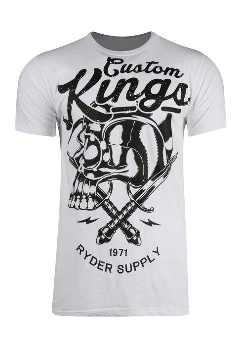 Men's Custom Kings Tee, WHITE, hi-res