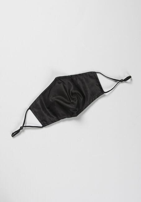 Solid Black Face Mask, BLACK, hi-res