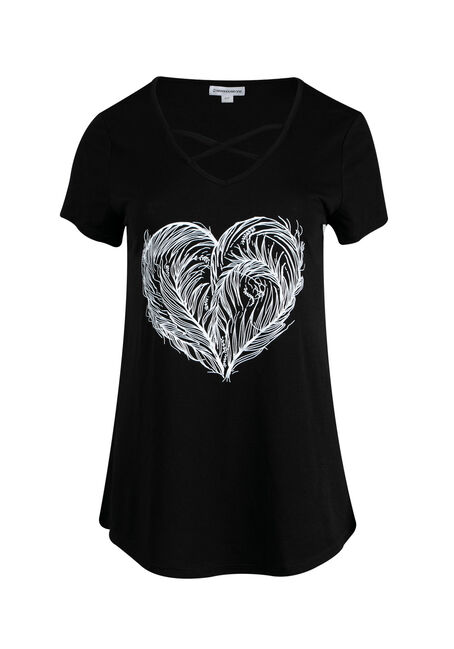 Ladies' Feather Heart Tee
