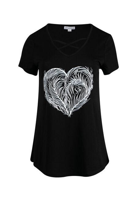 Ladies' Feather Heart Tee