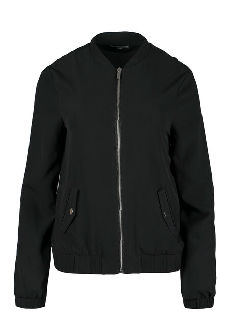 Ladies' Crepe Bomber Jacket