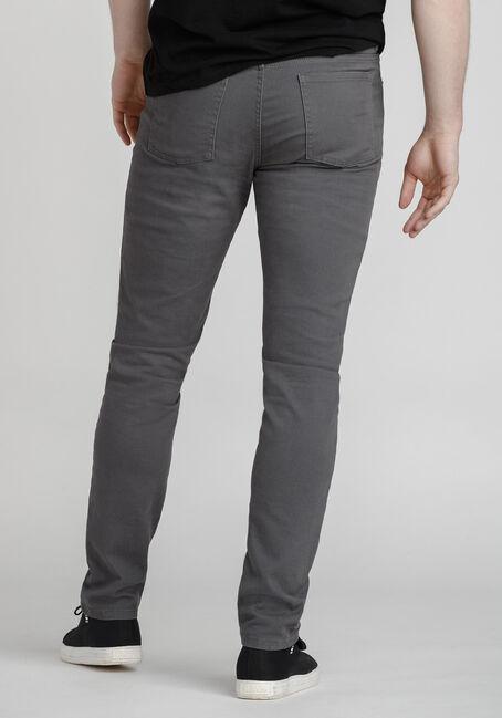 Men's Coloured Skinny Jeans, STEEL GREY, hi-res