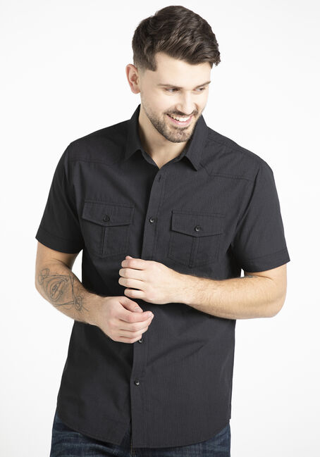 Men's 2 Pocket Tonal Mini Stripe Shirt