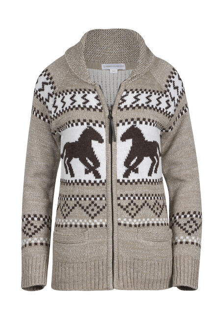 Ladies' Nordic Horse Cardigan