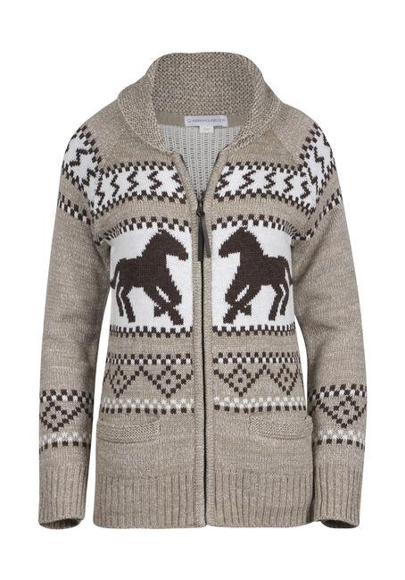 Women's  Nordic Horse Cardigan