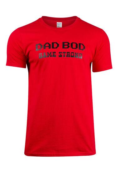 Men's Dad Bod Tee, DARK RED, hi-res