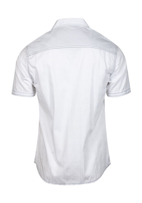 Men's Two Pocket Shirt, WHITE, hi-res