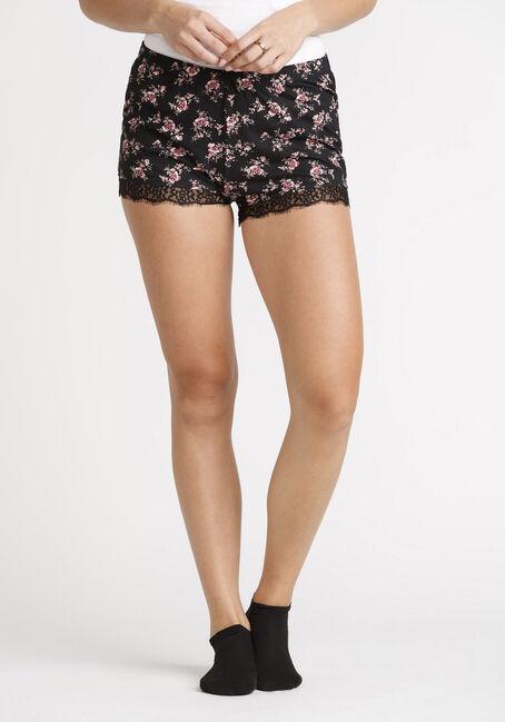 Women's Floral Lace Trim Short