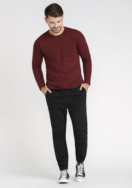 Men's Pocket Rib Knit Tee, VINEYARD WINE, hi-res