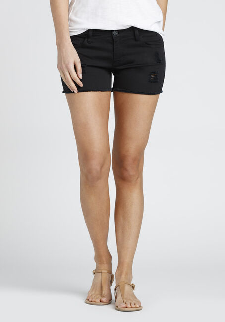 Ladies' Destroyed Not-So-Short Short